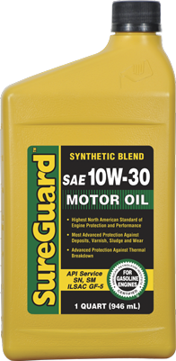 SureGuard Advanced Formula Synthetic Blend 10W-30